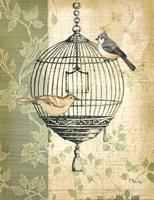 Botanical Birdcage I Fine-Art Print