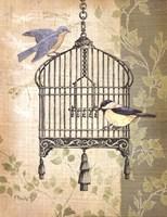 Botanical Birdcage II Fine-Art Print