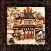 Quaint Cafe I Framed Print
