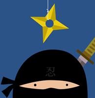 Peek-A-Boo Ninja Fine-Art Print