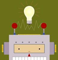 Peek-A-Boo Robot Fine-Art Print