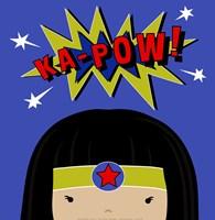 Peek-A-Boo Supergirl Framed Print