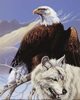 Eagle and Wolf Fine-Art Print