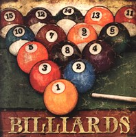 Billiards Framed Print