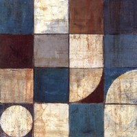 Tango Detail I - Blue Brown Fine-Art Print