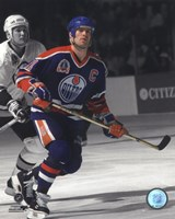 Mark Messier 1990 Stanley Cup Finals Spotlight Action Fine-Art Print