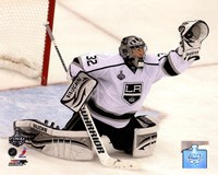 Jonathan Quick Game 2 of the 2012 Stanley Cup Finals Action Fine-Art Print
