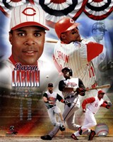 Barry Larkin 2012 MLB Hall of Fame Legends Composite Fine-Art Print