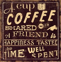Coffee Quote I Fine-Art Print