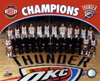 Oklahoma City Thunder 2011-12 NBA Western Conference Champions Team Photo Fine-Art Print