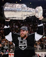 Jeff Carter with the Stanley Cup Trophy after Winning Game 6 of the 2012 Stanley Cup Finals Fine-Art Print