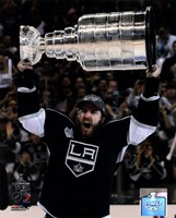 Mike Richards with the Stanley Cup Trophy after Winning Game 6 of the 2012 Stanley Cup Finals Fine-Art Print