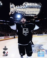 Drew Doughty with the Stanley Cup Trophy after Winning Game 6 of the 2012 Stanley Cup Finals Fine-Art Print
