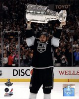 Dustin Brown with the Stanley Cup Trophy after Winning Game 6 of the 2012 Stanley Cup Finals Fine-Art Print
