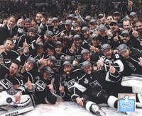 The Los Angeles Kings Team Celebration on ice after Winning Game 6 of the 2012 Stanley Cup Finals Fine-Art Print