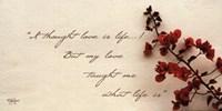 Love Is Life Fine-Art Print