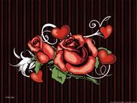 Rose And Heart Tattoo Fine-Art Print