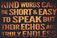 Kind Words Fine-Art Print