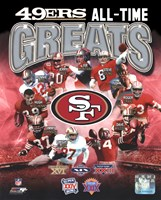 San Francisco 49ers All-Time Greats Composite Fine-Art Print