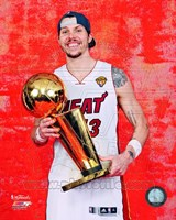 Mike Miller with the NBA Championship Trophy Game 5 of the 2012 NBA Finals Fine-Art Print