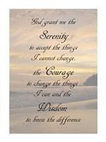 Serenity Prayer - landscape Fine-Art Print