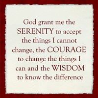Serenity Prayer - red frame Fine-Art Print
