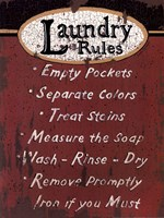 Laundry Rules - Red Fine-Art Print