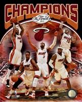 Miami Heat 2012 NBA Champions Composite Fine-Art Print