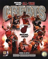 Miami Heat All Time Greats Pictures Composite Fine-Art Print