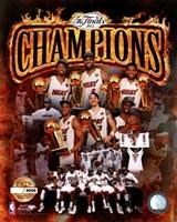 Miami Heat 2012 NBA Champions PF Gold Composite Fine-Art Print