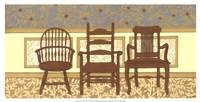 Arts & Crafts Chairs I Fine-Art Print