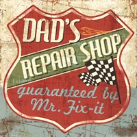 Mancave IV - Dads Repair Shop Fine-Art Print