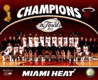 Miami Heat 2012 NBA Champions Team Photo Fine-Art Print
