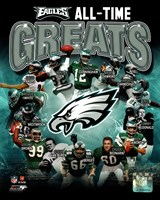 Philadelphia Eagles All Time Greats Composite Fine-Art Print