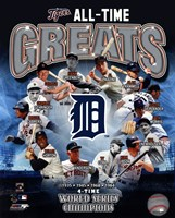 Detroit Tigers All Time Greats Composite Fine-Art Print
