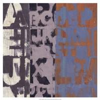 Alphabet Overlay I Fine-Art Print