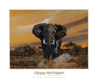 Charging Bull Elephants Fine-Art Print