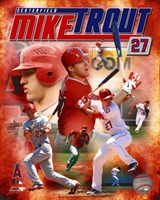 Mike Trout 2012 Portrait Plus Fine-Art Print