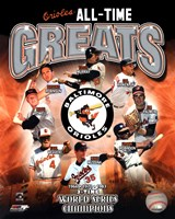 Baltimore Orioles All-Time Greats Fine-Art Print