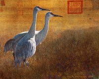 Walking Cranes Fine-Art Print