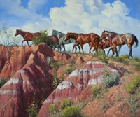 Colored Clay & Quarterhorse Fine-Art Print