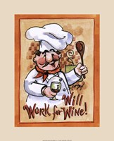 Will Work for Wine Fine-Art Print