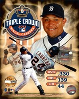 Miguel Cabrera MLB Triple Crown Winner PF Gold Composite Fine-Art Print