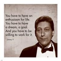 Enthusiasm for Life, Jimmy V Fine-Art Print