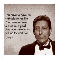 Enthusiasm for Life, Jimmy V Fine-Art Print