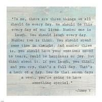 Three Things, Jimmy V Quote Fine-Art Print