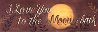 To the Moon and Back quote Fine-Art Print
