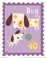 Animal Stamps - Dog Fine-Art Print