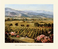 Vineyards to Vaca Mountains Fine-Art Print