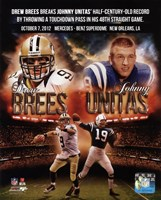 Drew Brees breaks Johnny Unitas' half-century-old record October 7, 2012 Fine-Art Print
